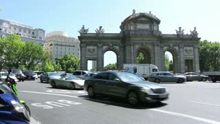 MADRID, SPAIN - 15 MAY. The Puerta de Alcala (Alcala Gate) in Madrid, Spain