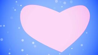 Valentines Day Heart. Loop. Matte. 1080p