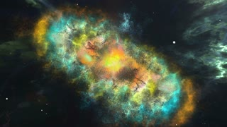 3d computer graphics of Abstract colorful nebula and starry sky in outer space