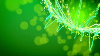 Abstract animation of equalizer music background on a green with copyspace. Seamless loop.