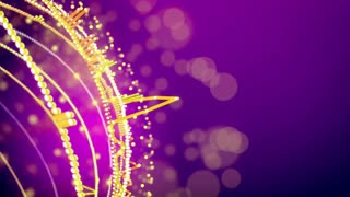 Abstract animation of equalizer music background on a purple with copyspace. Seamless loop.