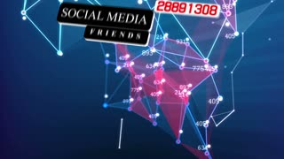 Abstract animation of Social media network concept. Plexus effect. Dots and lines. Seamless loop.