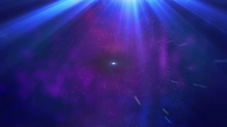 Abstract Black hole over star field in outer space