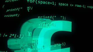 Abstract coding programmer code screen background. Software development concept,