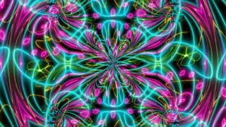 Abstract Colorful kaleidoscope texture background animation
