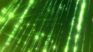 Abstract Light Green Glitters Loopable Background.