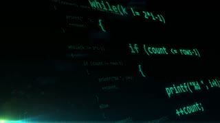 Abstract programming code background. Software development concept.
