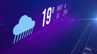 Abstract Weather forecast concept background - variety weather conditions.