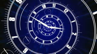 Animation of Infinity time clock. Infinity life concept. Digital generated.