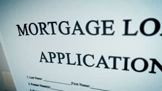 Animation video with Mortgage Loan Application Form Concept.
