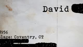 Detective 3d rendering of a hidden text covered with grunge on a police type profile with some name, surname, address, and biography facts. The paper is censored and scrolls swiftly