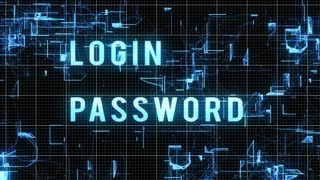 Entering Login and Password with Access Allowed Result on Modern technology background. Internet Technology Safety Concept.