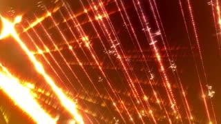 Glow light streaks loopable animation on a dark orange background.