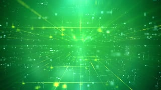 Green Business Technology Futuristic Digital Seamless Loop Background.