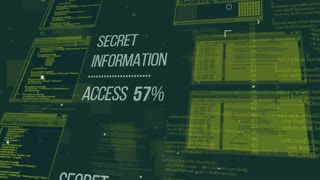 Hacking the Secret information database via the Internet. Internet technology security concept.
