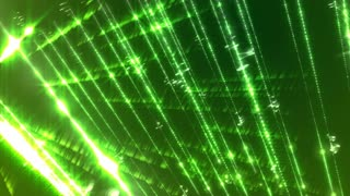 Loopable animation background with light streaks on a green background.