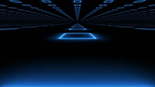 Modern abstract futuristic background on black with a camera motion