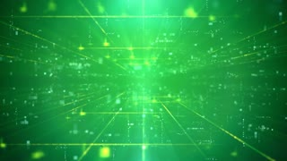 Modern Green Business Technology Background with Lines, Dashes and Dots. High-tech backdrop. Seamless Loop.