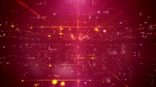 Red Business Technology Futuristic Digital Seamless Loop Background.