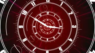 Twisted clock face. Business Time concept
