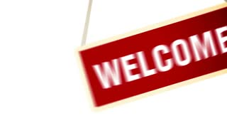 Welcome Banner sign