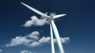 Wind Turbine. Close Up.