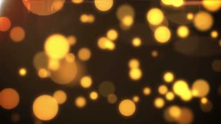 Yellow Flickering Particles Loop background.