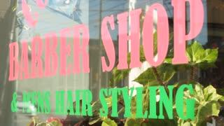 Barber shop sign symbol