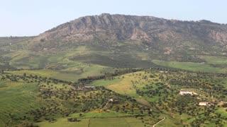 Beautiful lush mountainside hill in Morocco