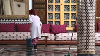Cleaner for muslim mosque