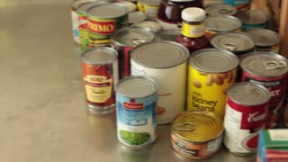 Donated non-perishable goods