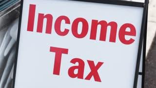 Income tax sign symbol