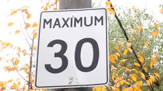 Maximum 30 km mph sign #2