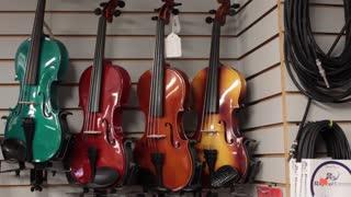 Pan colorful violins