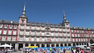 Plaza Mayor paintings Madrid Spain