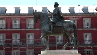 Plaza Mayor statue Phillip III
