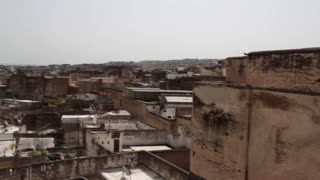 Rooftop view in Fez, Morocco pan