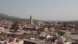 Rooftop view of medina in Fez, Morocco