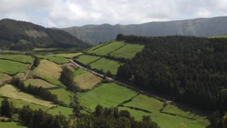 Sao Miguel lush landscape pan