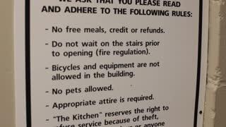 Soup kitchen rules
