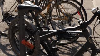 Tilt up bikes locked up