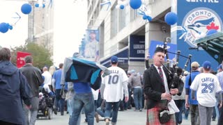 Toronto blue jays bagpipe player rogers centre