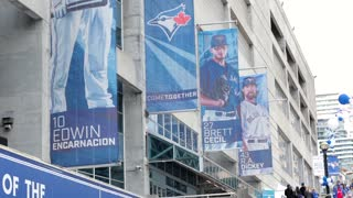 Toronto blue jays player banners rogers centre