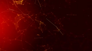 4K rendered computer generated video abstract moving background. Triangles, dots and lines are connecting with shine on blur background. Slow motion and shallow depth of field