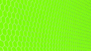 4K slow motion 3d animation of soccer ball flying and tearing goal net on green background