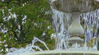 Fountain in summer park