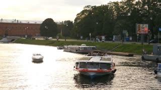 passenger boat on the Neva river
