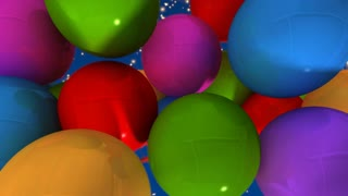 A group of balloons with the words Happy New Year hanging from the strings in multicolored shades