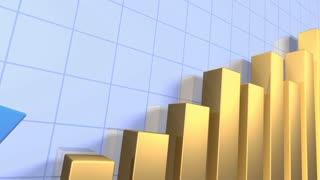 Bar graph depicting grow