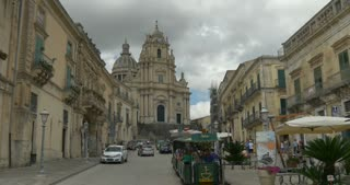 Cathedral of San Giorgio in Ragusa Ibla, Sicily (Italy). UNESCO World Heritage Site.